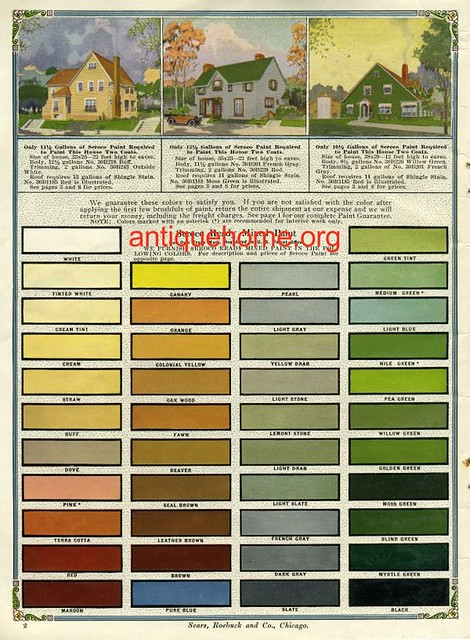 Vintage Exterior Color Schemes Seroco Paint 1918 Flickr Photo Sharing