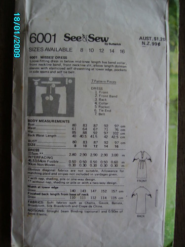 Line Drawing of 6001 See & Sew Pattern