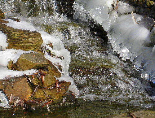flowing water & ice