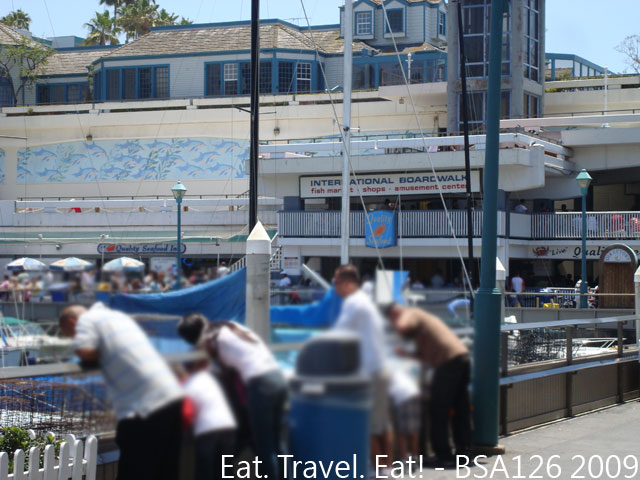 Eat travel eat seafood at the beach fathers day at for Redondo beach fish market