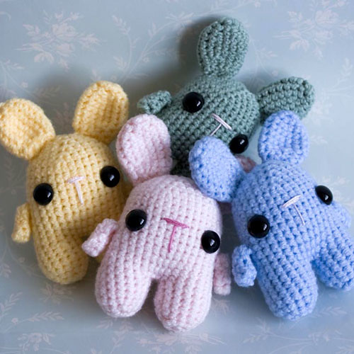 Amigurumi Conejo Kawaii : Amigurumi pastel kawaii bunnies flickr photo sharing
