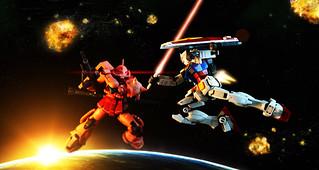 Real Grade Zaku II vs RX-78-2
