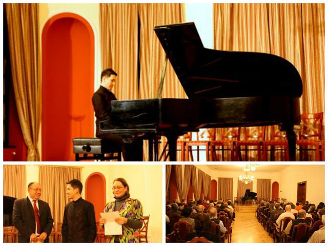 CONCIERTO DEL PIANISTA MEXICANO ALEJANDRO VELA,  EN EL CÍRCULO DE AMIGOS DE ÓBUDA, BUDAPEST