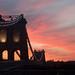 Menai Bridge at sunset by rhianwhit