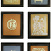 6 Papercuts framed for the show...