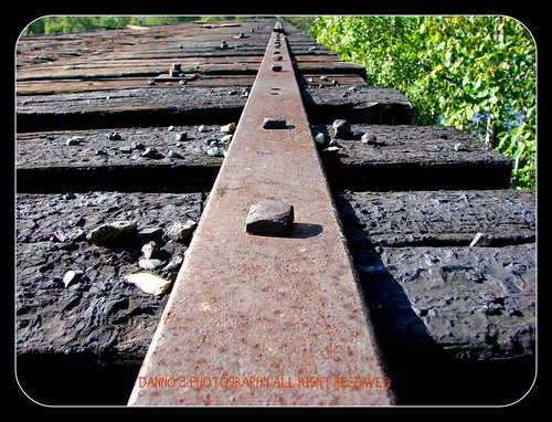 long steel plate railway track