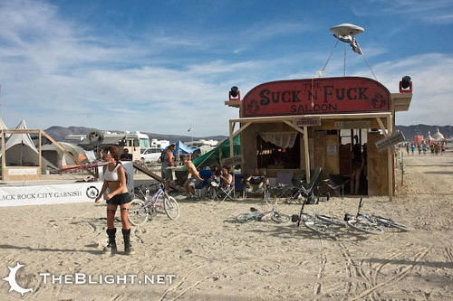 The Suck and Fuck Saloon, 4:30 keyhole, Burning Man 2008