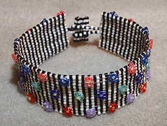 Pin Stripes and Flowers Bracelet | by mksouthmayd aka GrandmaMarilyns