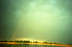 aurora, horizon, cloud, rainbow, sunlight, light, morning, sky,