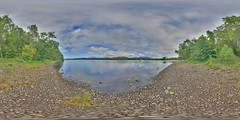 LochInsh: Beach 4 Loch Insh Scotland Equirectangular