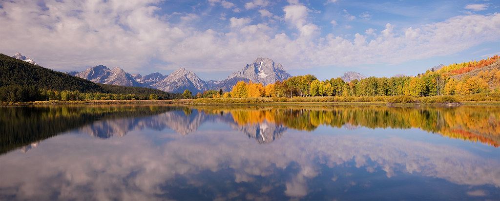 Grand Teton National Park, Oxbow Bend Panoramic