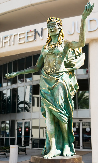 Veritas et Justitia (2007), George E. Edgecomb Courthouse, 800 East Twiggs Street, Tampa, Florida