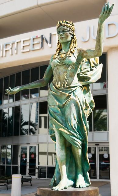 Veritas et Justitia (2007), George E. Edgecomb Courthouse, 800 East Twiggs Street, Tampa, Florida