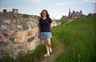 Sue At The Fortress Of Louisbourg