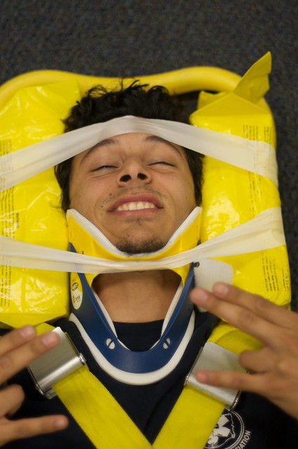 spinal immobilization | Flickr - Photo Sharing!