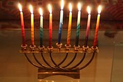 menorah(0.0), candle(1.0), light(1.0), candle holder(1.0), hanukkah(1.0), lighting(1.0),