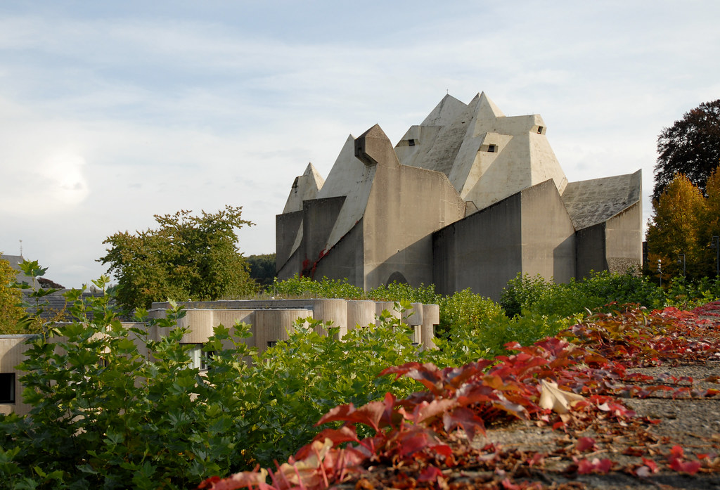 gottfried böhm, pilgrimage church, neviges 1963-1972