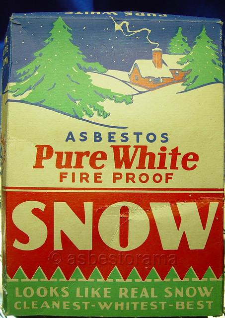 Vintage Box Of Asbestos Snow Decoration Flickr Photo