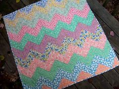 Feedsack Zig-Zag Quilt by quilts by elena