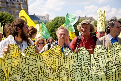 Pique-nique sans OGM, sur l'Esplanade des Invalides