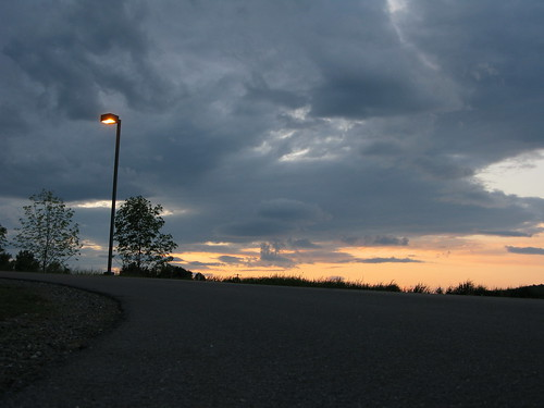 road trees sunset sky color clouds vermont sundown streetlamp hill curve vt randolphcenter canong9