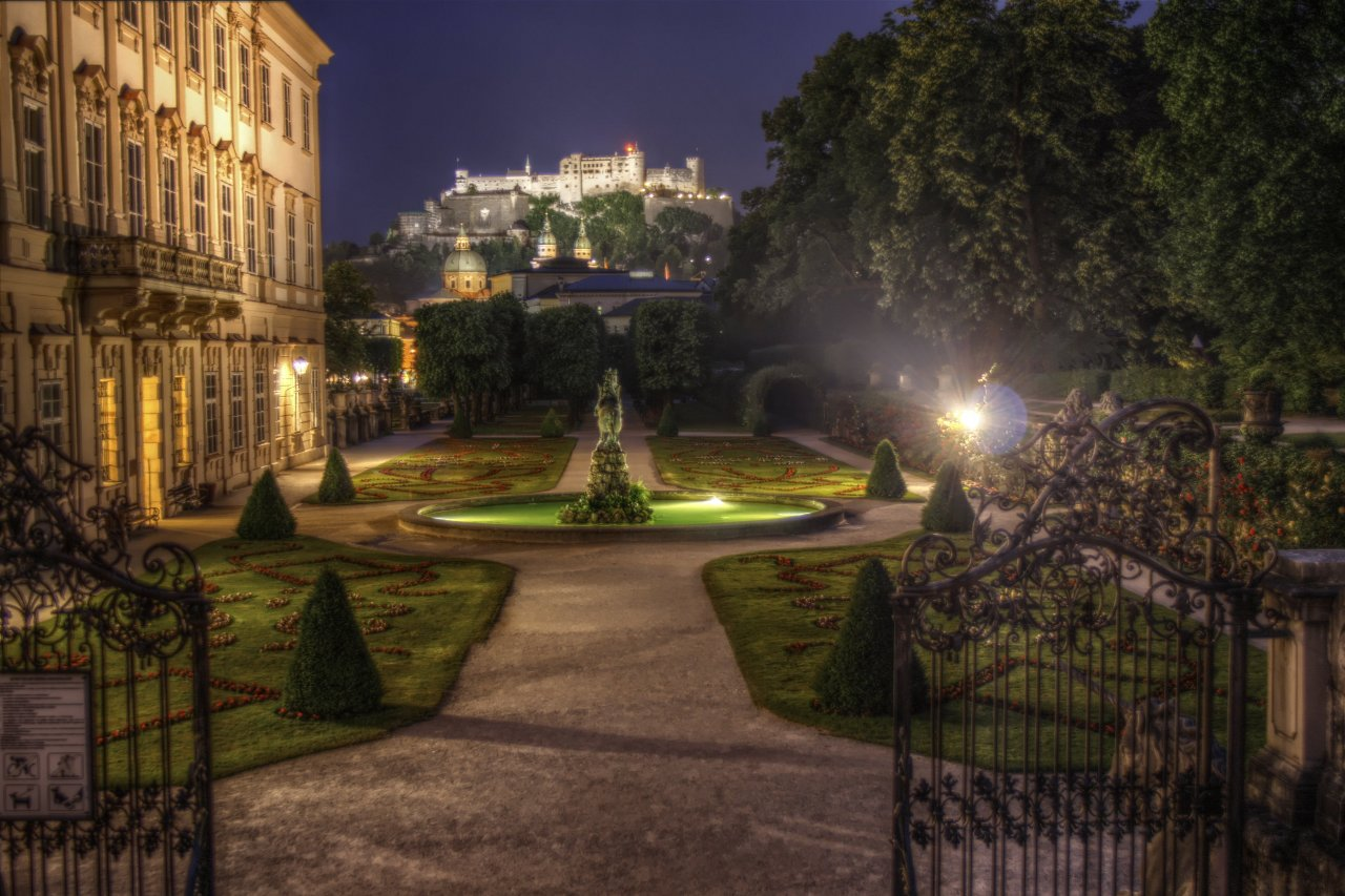 Mirabell palace and gardens salzburg travel guide for A night at the garden