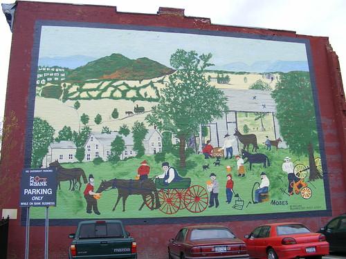 Grandma Moses mural.HoosickFalls