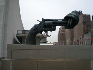 Twisted Gun in front of UN