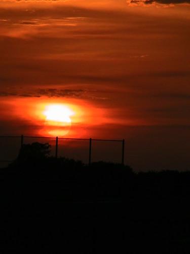 sunset orange black florida fl loxahatchee