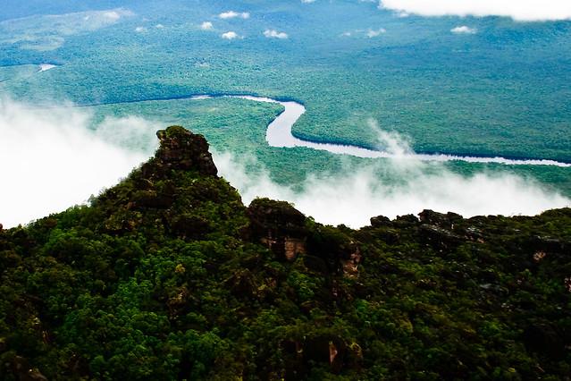 Vista desde arriba de un Tepuy. Parque Nacional Canaima. Venezuela