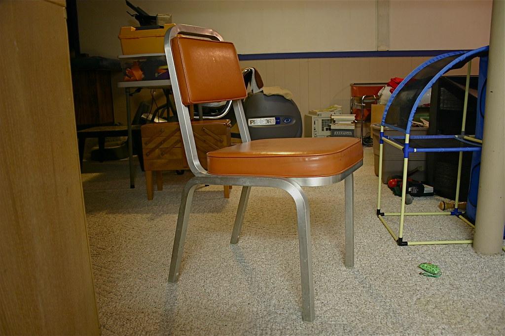 Superb Blair MCM Aluminum Leather Chair