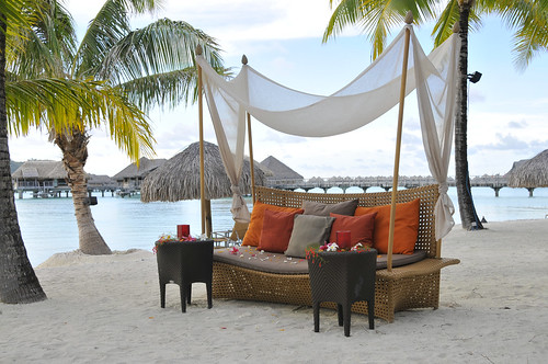 InterContinental Bora Bora Resort & Thalasso Spa sofas on the beach