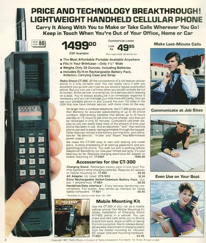 1988 Radio Shack CT-300 Portable Cellular Phone