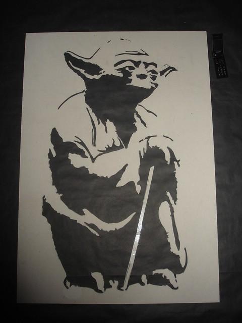Master Yoda Stencil. 4A5. | Flickr - Photo Sharing!