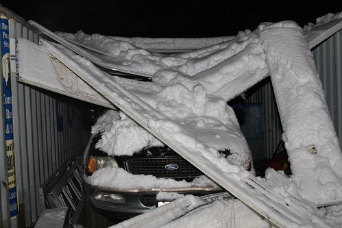 Carport snow collapse