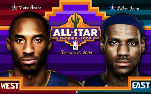 2009 NBA All-Star Game Wallpaper (Kobe-LeBron)