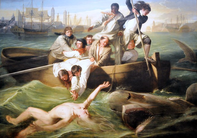 the struggle in watson and the shark a painting by john copley Here copley makes a large scale painting watson and the shark john singleton copley, watson and the shark 1778, oil on canvas i'd never even heard of this image until my big brother mentioned it tonight.