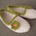 beige-green slippers