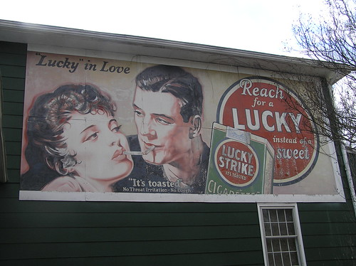 "Vintage ""Lucky Strike"" billboard - Durham County, NC"