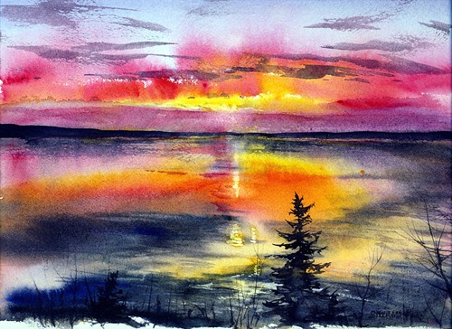 sunset art painting studio michigan michiganfavorites upperpeninsula lakesuperior zeba indianreservation keweenaw baragacounty therez lansemichigan keweenawbayindiancommunity kbic zebamichigan lakesuperiorchippewatribelansebandojibwojibwayanishinaabeanishnabenativeamericanreserviation