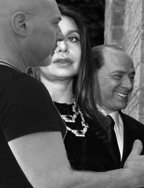 Here is Ronald, body guard of the Prime Minister of Italy Berlusconi and ex wife Veronica Lario
