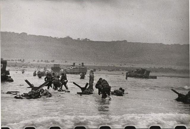 D-Day, Omaha Beach, by Robert Capa