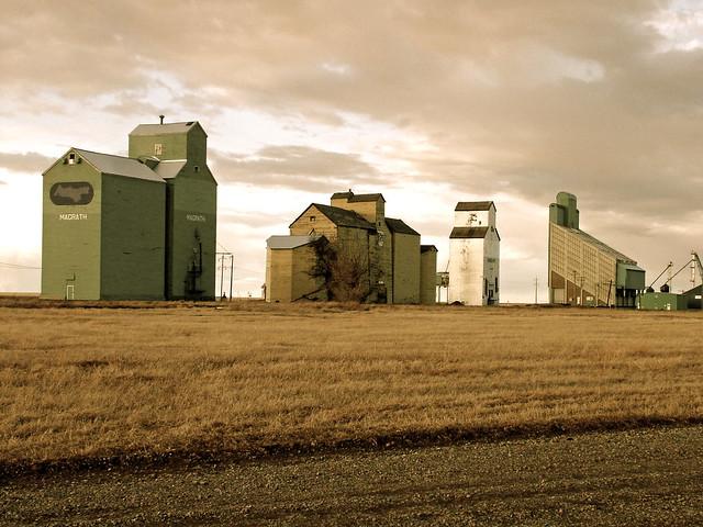 Grain Elevators in a Row