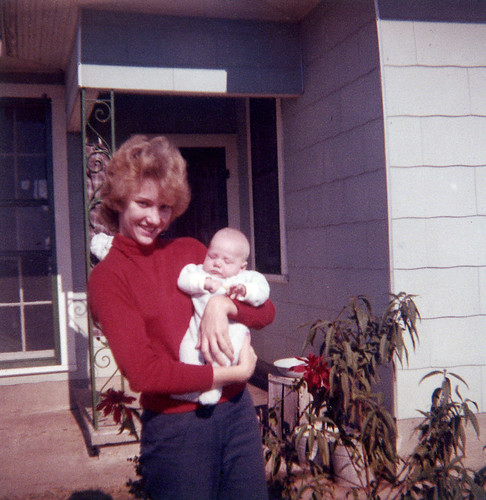 Judy Matula holding Bradley Muesse