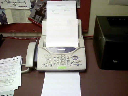 Fax machine in my office