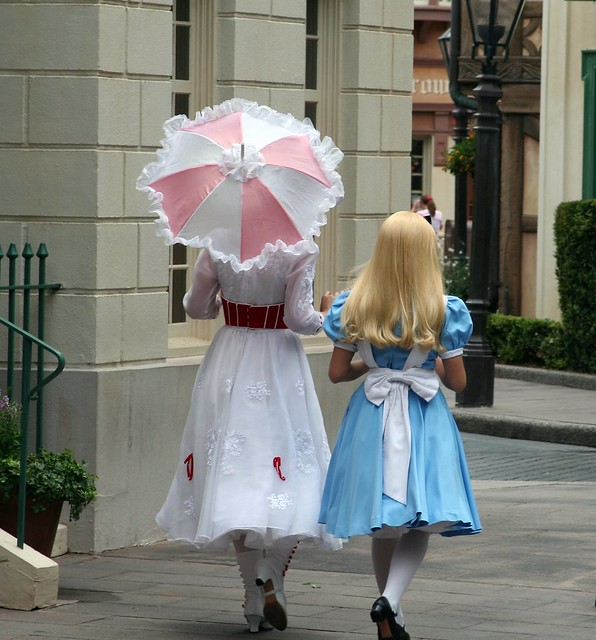Mary Poppins And Alice In Wonderland In United Kingdom Epcot Flickr Photo Sharing