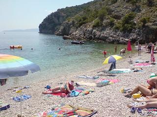 Image of Zero Beach Shingle beach. beach croatia beli cres 4kmeofdragozetici