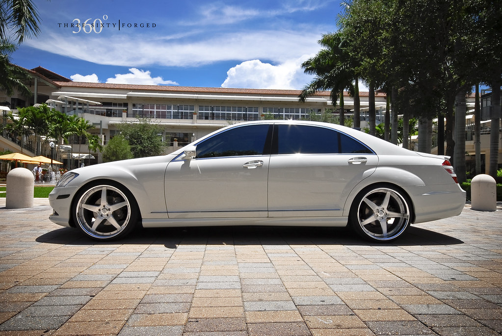 S550 on the new 22 360 forged straight 5ive for 2007 mercedes benz s550 4matic