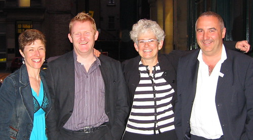 The team behing the third World Summit on Arts and Culture, l-r: Susie Hargreaves, Mark Robinson (Arts Council England North East), Sarah gardner (IFACCA) and Andrew Dixon (newcastle Gateshead Initiative)