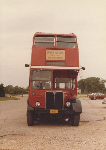 London bus. Dundee Illinois. May 1982. by Eddie from Chicago
